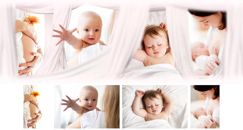 Фотоколлаж из детских фото